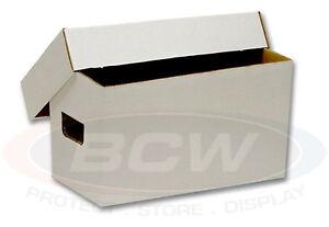1-BCW-45RPM-BOX-7-034-Single-Vinyl-Record-150-Count-White-EP-Storage-Box-Case-NEW