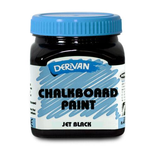 Chalkboard Paint 250ml - Jet Black, Traditional Derivan Chalkboard Colour