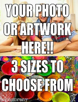 CUSTOM MADE POSTER PRINT!! Photo Enlargement YOUR Image Professionally Printed!