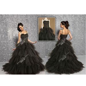 New-Custom-Gothic-corset-Ball-Gown-Marie-Victorian-black-Wedding-Dress-H1932