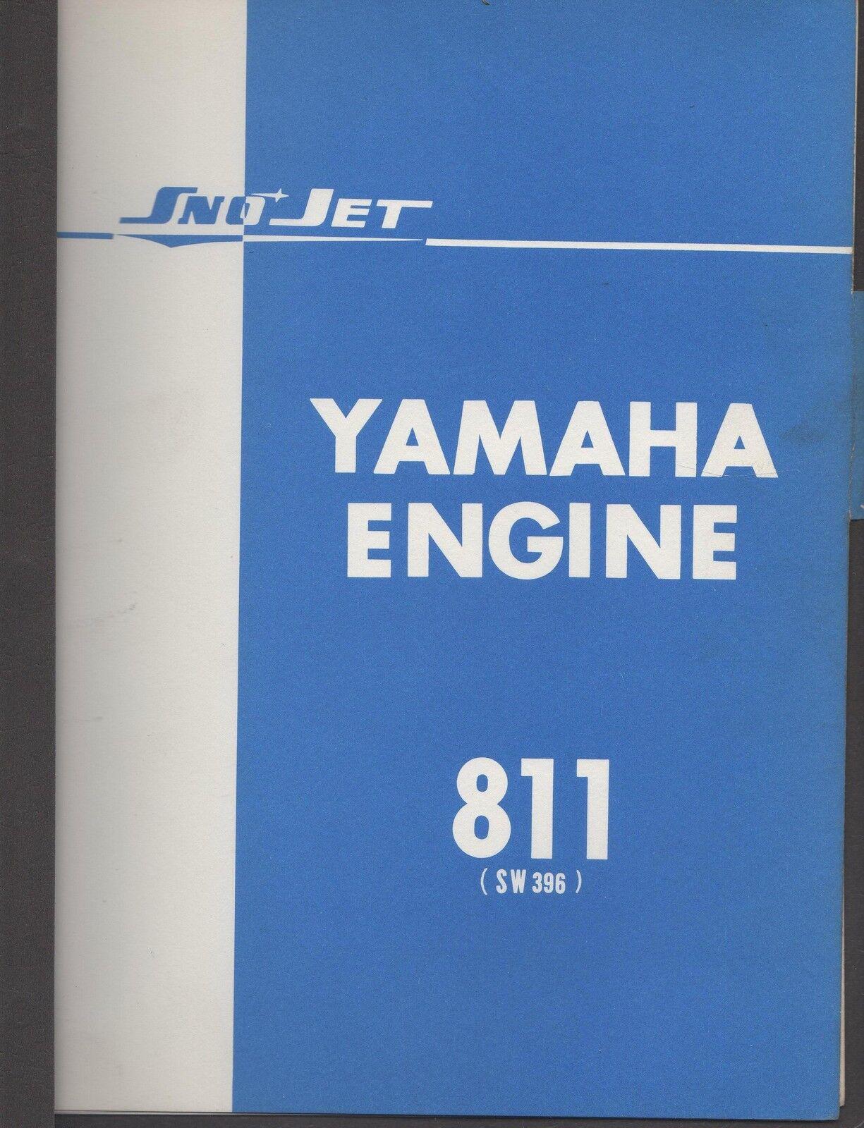 1971 SNOJET SNOWMOBILE YAMAHA ENGINE 811 PARTS MANUAL USED