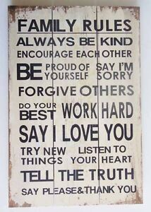 Contemporary-Wood-Wall-Art-Sign-Message-Plaque-Family-Rules-Sign
