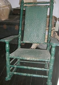... Antique Porch Rocking Chair Wicker Rocker Kennedy Carolina