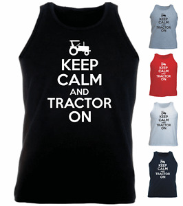Keep-Calm-And-Tractor-On-Farming-New-Gift-Birthday-Athletic-Vest-Tank-Top-s-xxl