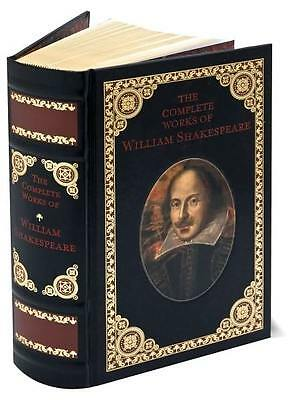 COMPLETE WORKS OF WILLIAM SHAKESPEARE ~ LEATHER GIFT ED ~ CLASSIC LIT ~ HC