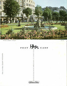 PRINCESS GARDENS TORQUAY DEVON COLOUR POSTCARD - Weston Super Mare, Somerset, United Kingdom - If the item you received has in any way been wrongly described or we have made a mistake regardless of the nature we will pay your return postage costs. If however the error is yours you pay for the return pos - Weston Super Mare, Somerset, United Kingdom