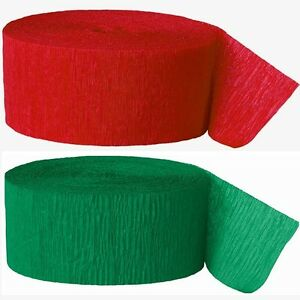 Green-and-Red-Crepe-Paper-Streamers-Christmas-Party-Decorations