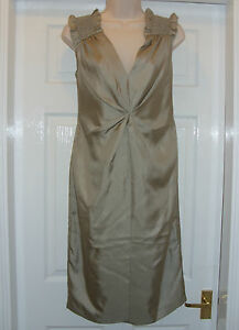 Pleat-Front-Ruched-Shoulder-Drape-Silk-Dress-by-Pied-A-Terre-RRP-120
