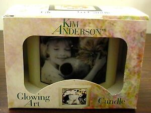 VINTAGE-BOX-2000-KIM-ANDERSON-OLD-GLOWING-ART-CANDLE-amp-LITTLE-GIRL-BEAR-VOTIVE