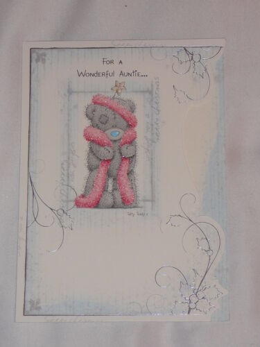AUNT AUNTIE UNCLE CHRISTMAS CARD ME TO YOU TATTY TEDDY CARTE BLANCHE CUTE