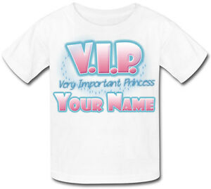 VIP-VERY-IMPORTANT-PRINCESS-PERSONALISED-CHILDS-T-SHIRT-GREAT-KIDS-GIFT-amp-NAMED