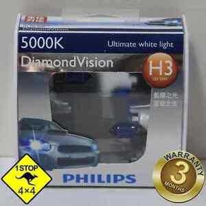 A-Pair-of-Genuine-Philips-H3-12V-55W-5000K-Diamond-Vision-Bulbs