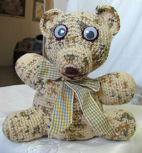 A-SPECIAL-HANDMADE-CROCHETED-BEAR-WOOLY-ONE-OF-A-KIND-DIRECTLY-FROM-THE-ARTIST