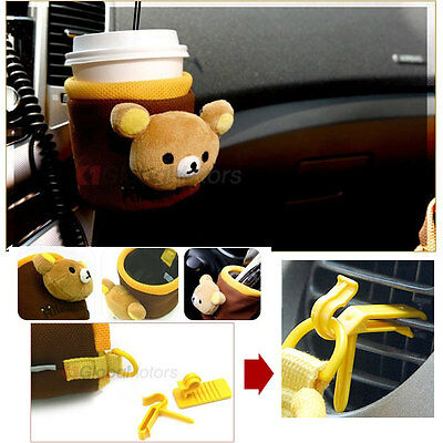 Car Accessories Rilakkuma various holder Cup Coffee Drink Bottle Mobile _ Phone
