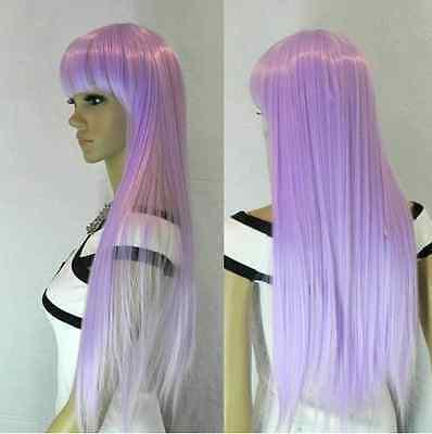 COSPLAY Long Straight Light Purple Women's Wig