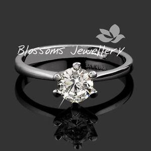 18K-White-Gold-GP-1CT-Solitaire-Wedding-ENGAGEMENT-RING-Swarovski-DIAMOND-Sz6
