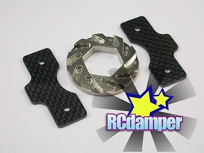 GRAPHITE BRAKE PAD & THICK STEEL DISK TEAM ASSOCIATED MONSTER GT MGT 8.0 4.6 21