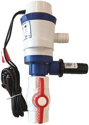 LIVE WELL BAIT TANK PUMP WATER PUMP Tank System 12 volt Boat Marine Bait Pump