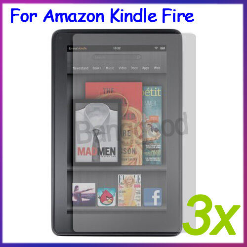 """3x Clear Screen Protector Guard Film For Tablet Amazon Kindle Fire 7"""" inch New"""