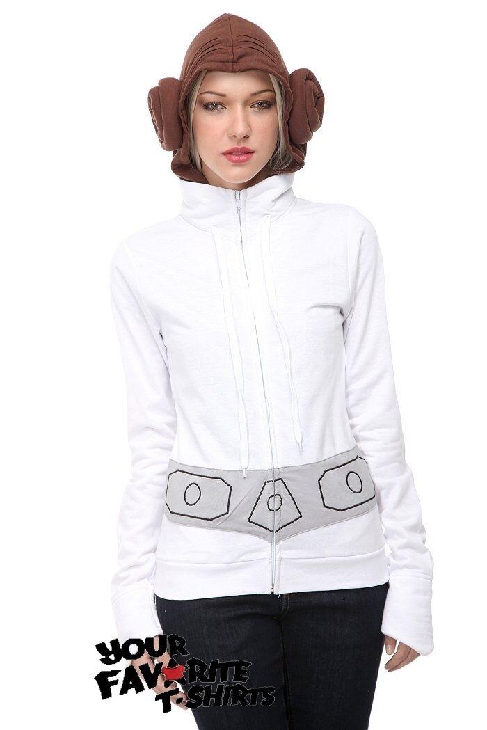 Star Wars Princess Leia Costume Junior Zip Up Hoodie