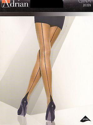 "Sexy Tights Cuban Heel With Back Seam - Adrian ""Gina"" 20 Denier"