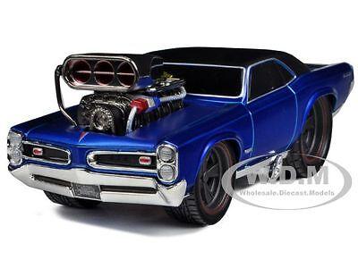"1966-1967 PONTIAC GTO BLUE 1/24 ""MUSCLE MACHINES"" BY MAISTO 32234"