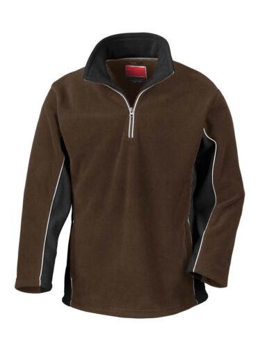 Result Herren Fleecepullover mit Reißverschluss XS S M L XL 2XL Sport Pullover