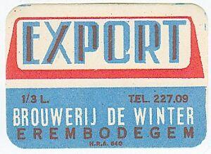 Vintage-Export-Label-Erembodegem-Belgium