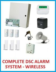 complete dsc alarm system wireless devices custom designed ebay. Black Bedroom Furniture Sets. Home Design Ideas