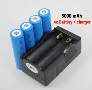 4x-18650-Li-ion-Rechargeable-Battery-Charger-5000Mah-For-LED-Flashlight-Torch