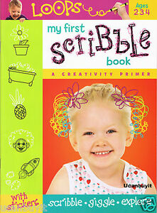 32pg-Dalmatian-Press-MY-FIRST-SCRIBBLE-BOOK-with-Stickers-Ages-2-4