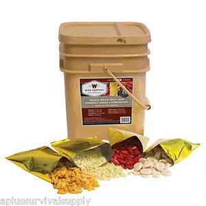 wise foods 120 servings freeze dried fruit bucket rations. Black Bedroom Furniture Sets. Home Design Ideas