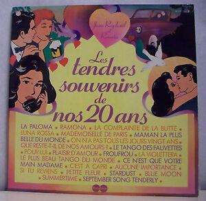 2-X33-tours-Jean-RAPHAEL-amp-RENATA-Vinyles-LP-12-034-TENDRES-SOUVENIRS-DE-NOS-20-ANS
