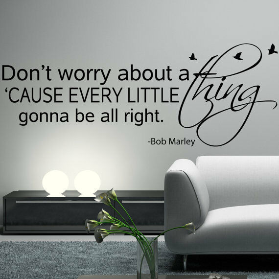 Wide 150cm Removable Bob Marley Words Vinyl Wall Paper Decal Art Sticker X713