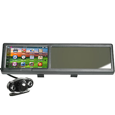 4.3 Inch Bluetooth Rearview Mirror GPS Navigator 4GB with Wireless Rear Camera