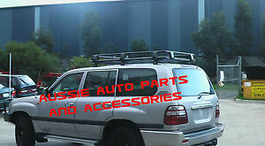 1-8m-Steel-Roof-Cage-Rack-Jack-amp-Shovel-Holder-Toyota-LandCruiser-100-Series-97-07