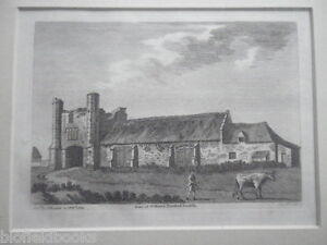 Gate-of-St-Mary-039-s-THETFORD-NORFOLK-1784-Antiquarian-Engraving-Mounted-RARE
