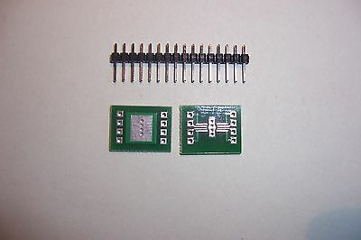 SMD SMT to DIL  adapter boards TSSOP8 or MSOP8 to 8 pin DIL Qty.2  G Plane type