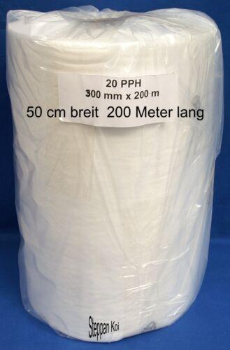 Filtervlies Vlies Rolle 50 cm. breit  200 Meter lang Feinfilter Bandfilter Koi