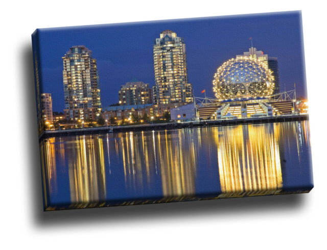 False Creek Science World, Downtown Vancouver Giclee Canvas Wall Art Picture