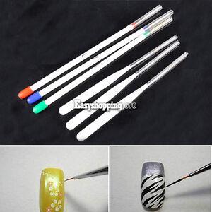 Tiny-Nail-Art-Liner-Drawing-3-3-Per-Set-Acrylic-Painting-Brush-Pen-Set-New