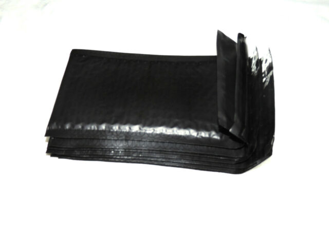 50 New Black 4x8 Bubble Mailers, Self Adhesive Padded Shipping Mailing Envelopes