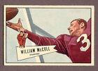 1952 Bowman Bill McColl #60 Football Card
