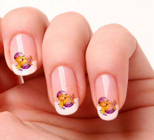 20 Nail Art Decals Transfers Stickers #182 - Easter Chick Easter egg