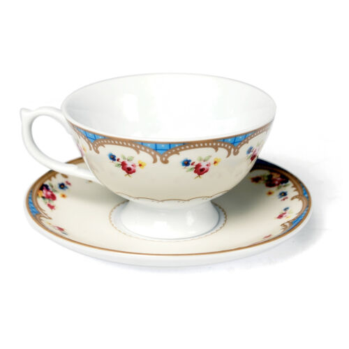 dotcomgiftshop ROSES REGENCY STYLE TEACUP AND SAUCER