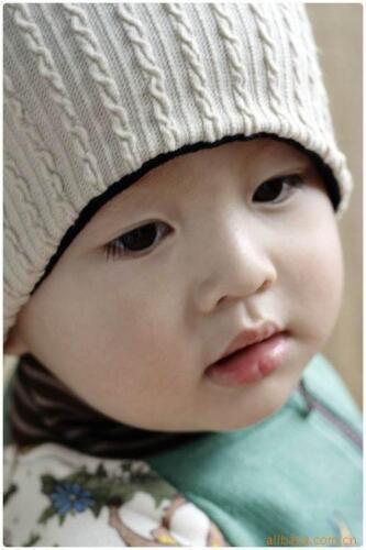 Baby Boy girl Kids Mum Dad Children Reversible Beanie Ski Skull Hat Warm Cap
