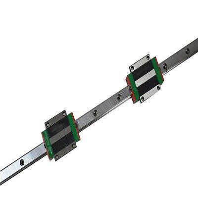 HIWIN Linear Guide HGR15 -L1000mm rail +2pcs HGW15 Flange carriages