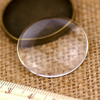 30mm Large Round Clear Glass Cabochon Dome Flat Back g30 (2pcs)