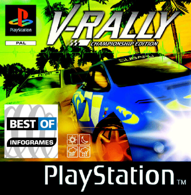 PS1 * Playstation  - V-Rally 2 in der V-Rally 1 Hülle/Covers
