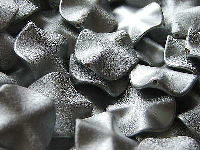 27mm metallic textured WAVY DISC acrylic beads x 10
